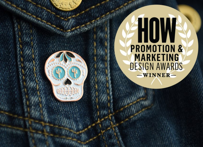 Sam Stone Self Promo Pin HOW Magazine Awards Winner