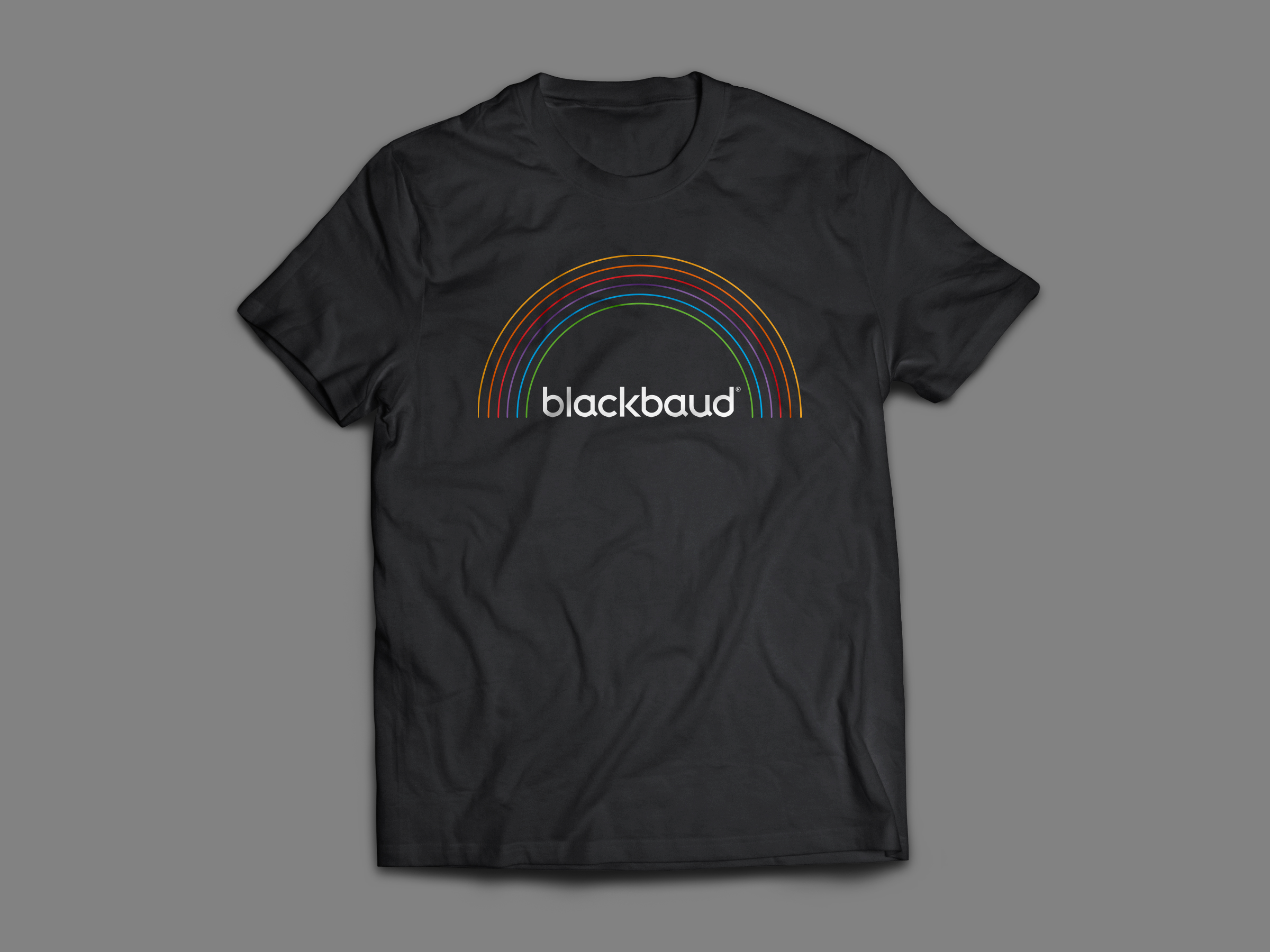 Blackbaud pride shirt