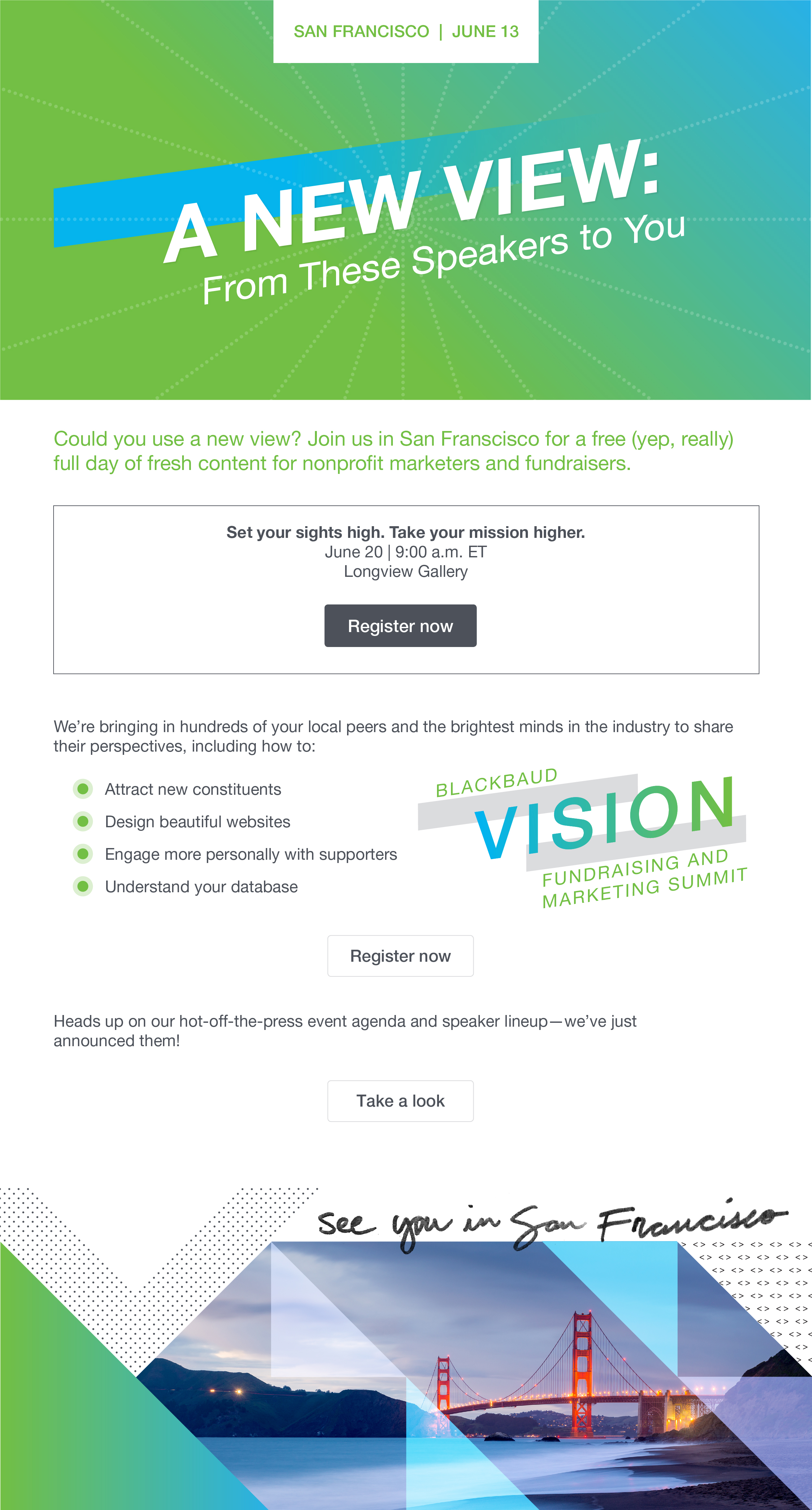 SFO Vision Events Email by Sam Stone